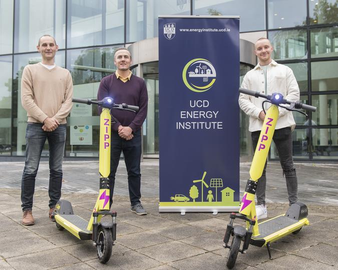 Prof Andrew Keane, Dr Paul Cuffe and Charlie Gleeson. Image: Vincent Hoban, UCD